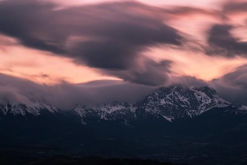 Gran Sasso peaks, sunset.