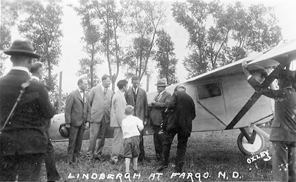 Lindbergh at Fargo, North Dakota, on August 26, 1927.