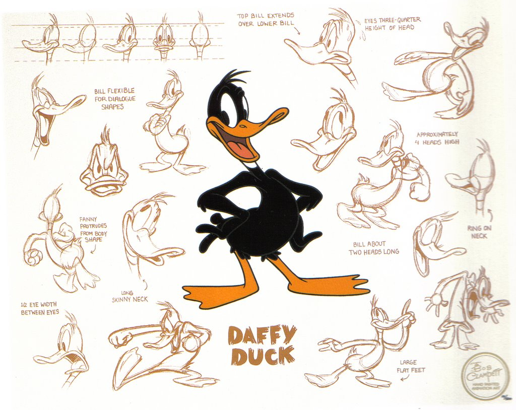 Expressions of Daffy Duck
