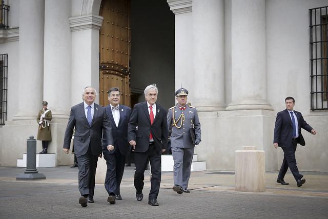 Ceremonia de inauguración del monumento al ex Presidente Pedro Aguirre Cerda. 03.06.18