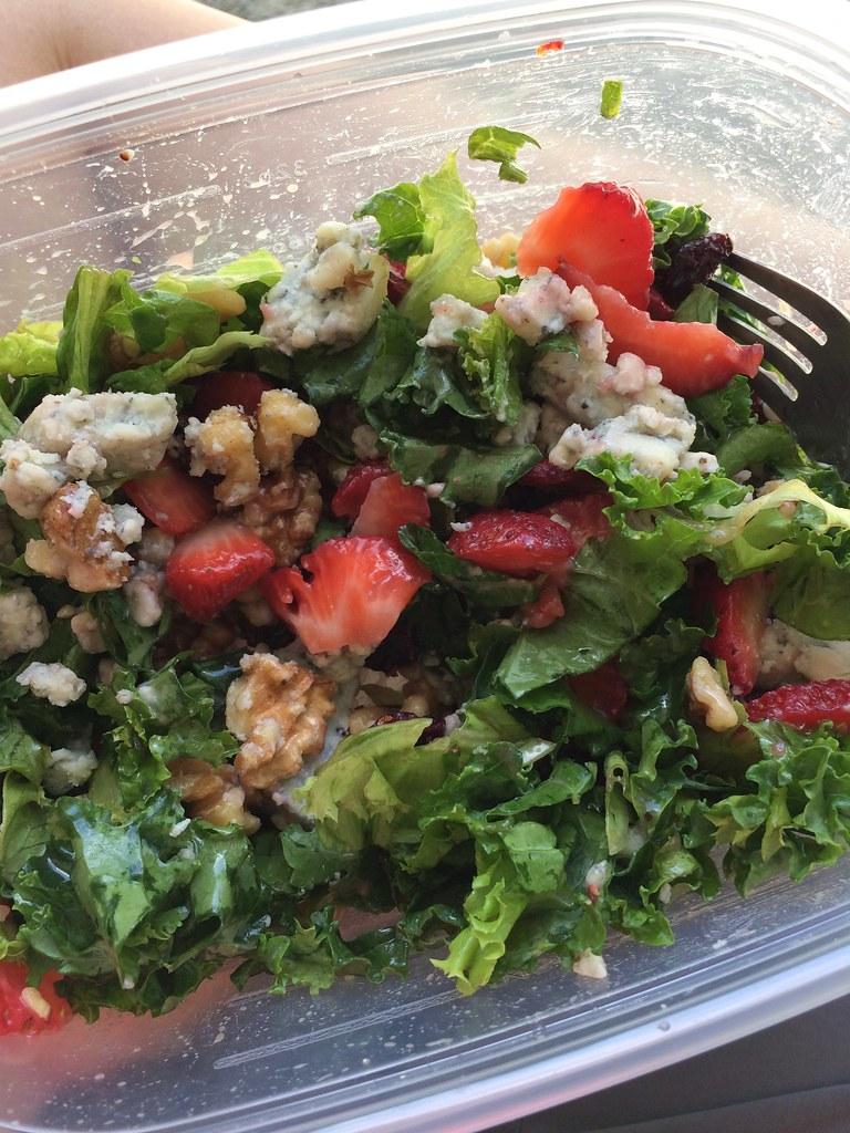 Summer Salad with Carolina Bleu Marble Cheese