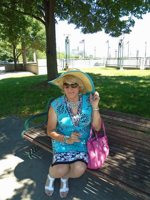 Enjoying The Cool Breezes Wafting Off Of Lake Michigan