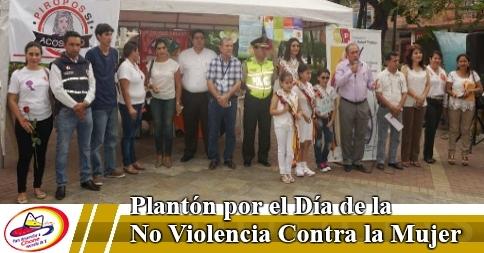 Plantón por el Día de la No Violencia Contra la Mujer