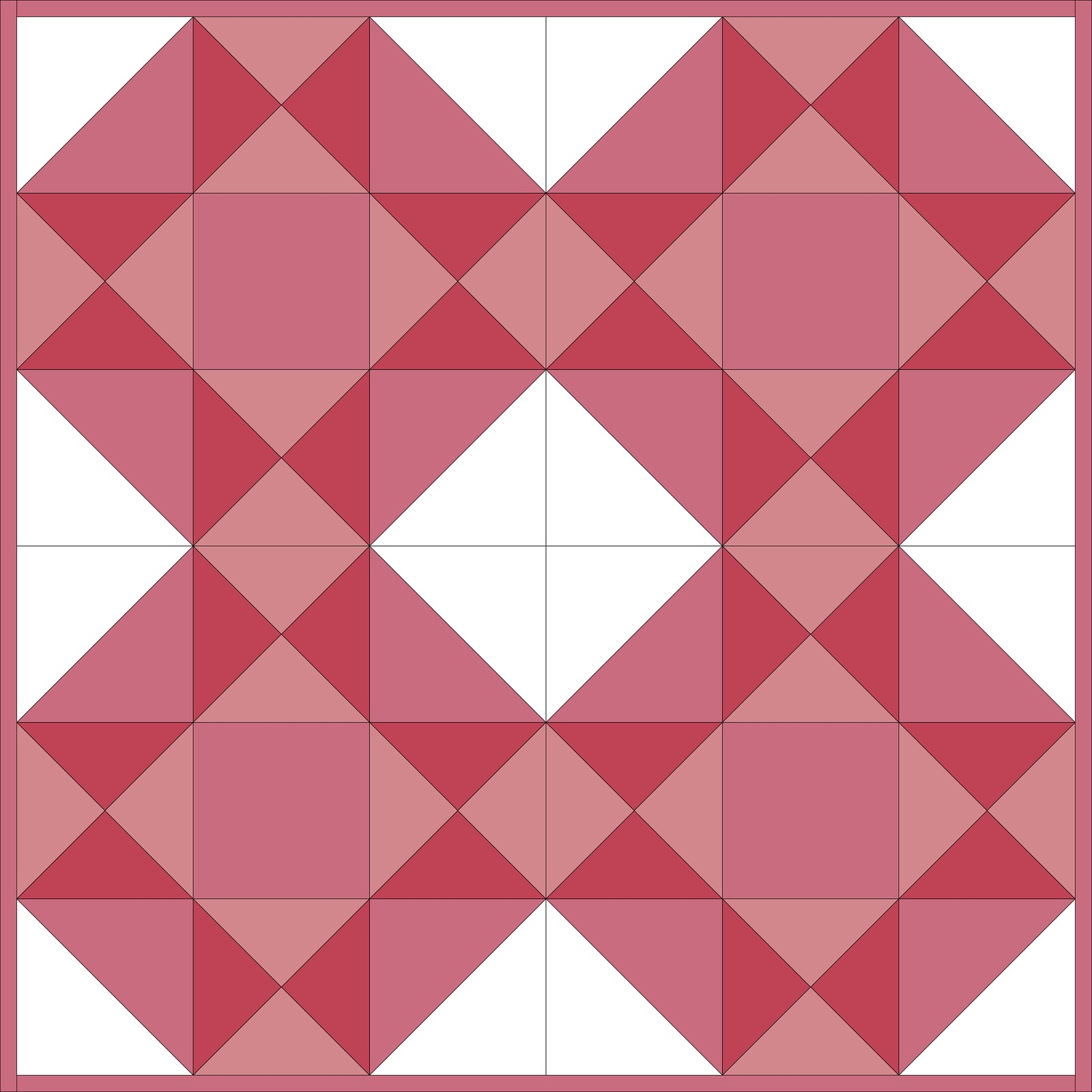 "July Giant Block 24"" Quilt Idea"
