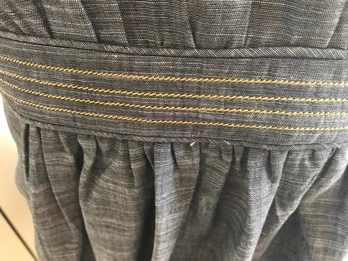 topstitched chambray Seamwork Veronica waistband