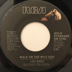 LOU REED:WALK ON THE WILD SIDE(LABEL SIDE-A)