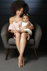 Family Photography - Mother & Daughter Chair