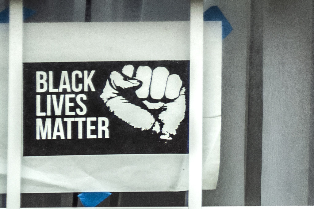 BLACK LIVES MATTER in house  at 10th and Reed--Passyunk Square (detail)