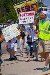 Protesting the Soon to be Built Foxconn Electronics Plant Mt. Pleasant Wisconsin 6-28-18  2072
