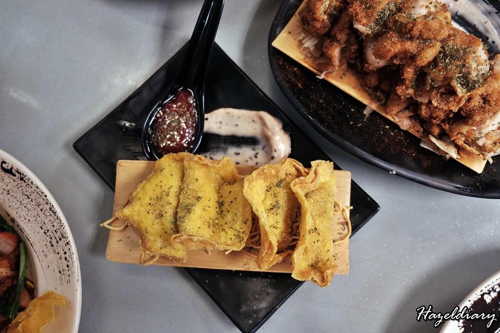 bei-ing yun tuen wonton noodles-fried shrimp dumplings