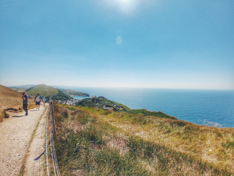Lulworth cove view