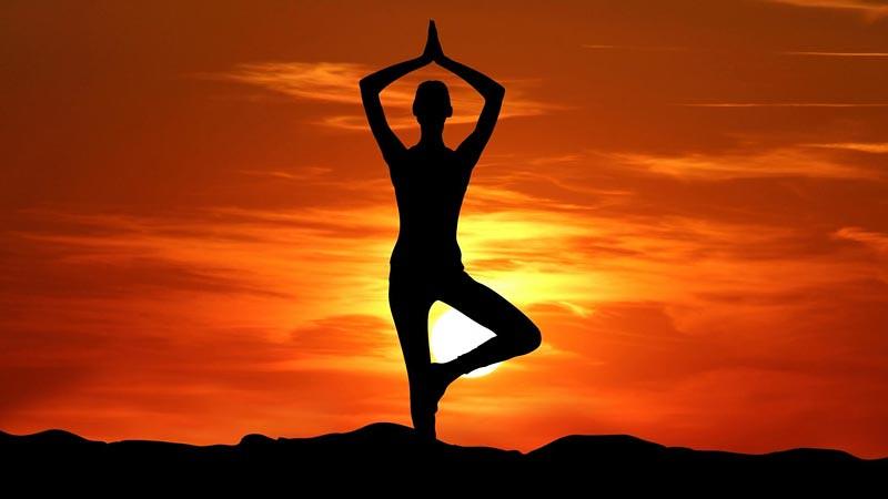Salah satu pose yoga untuk pemula.