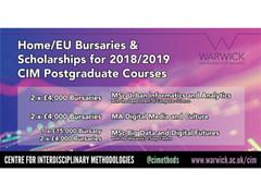 University of Warwick CIM Postgraduate Scholarships 2018 UPDATED