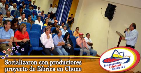 Socializaron con productores proyecto de fábrica en Chone