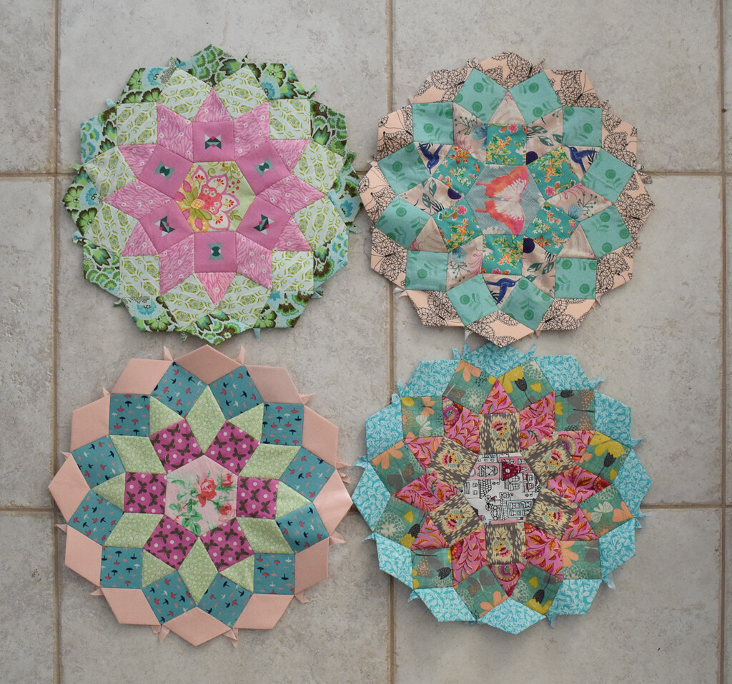 4 mandolin quilt blocks done