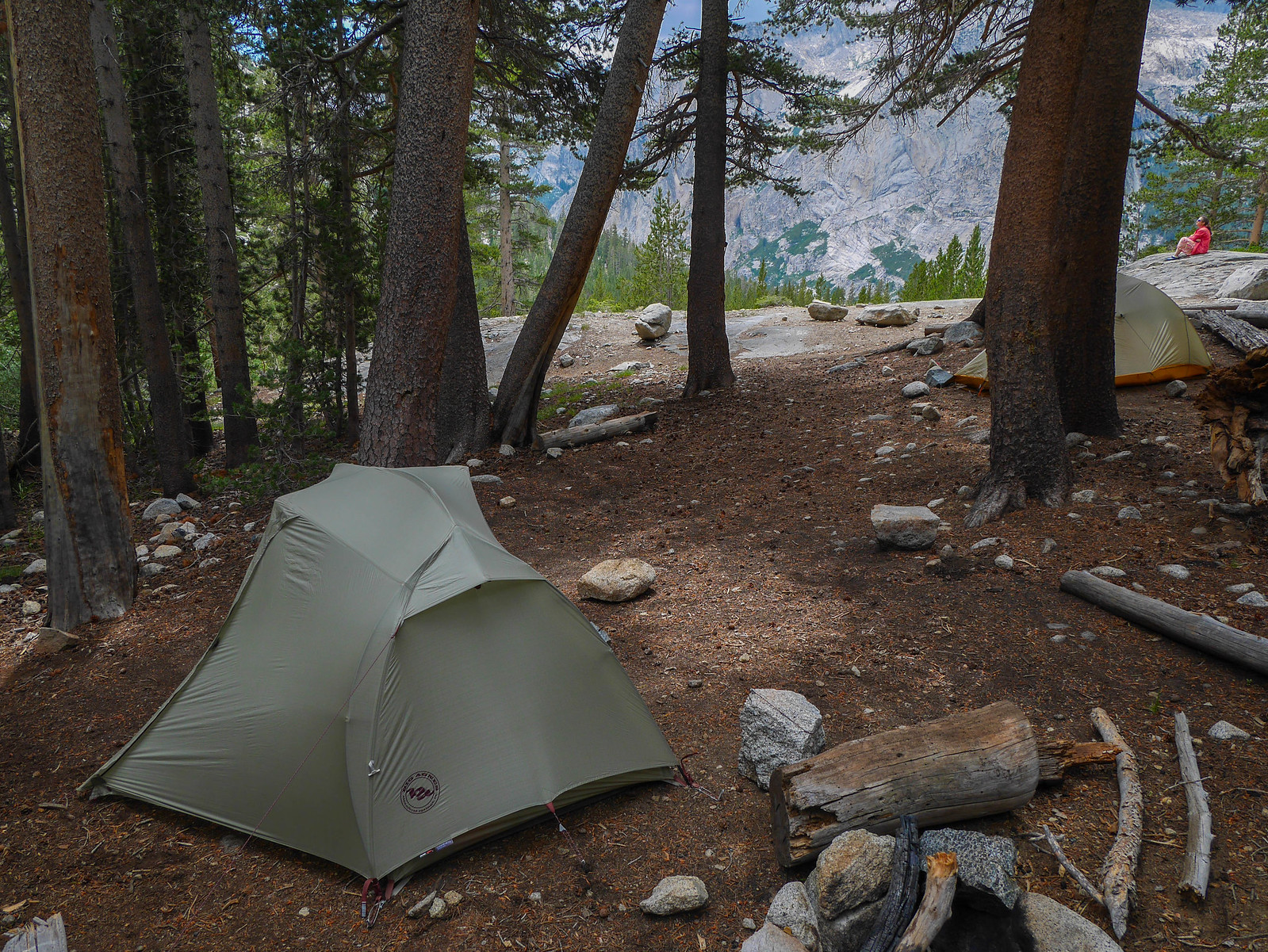 Camp at 9,900ft up the Dusy Branch