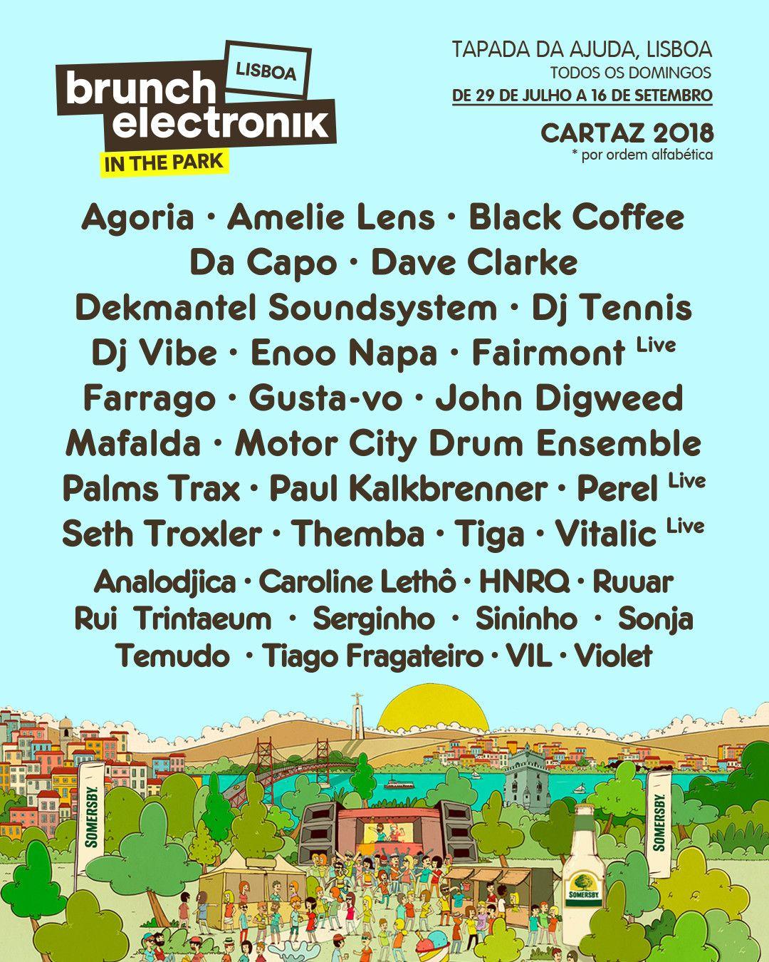 Cartaz completo Brunch Eletronik - In the Park 2018