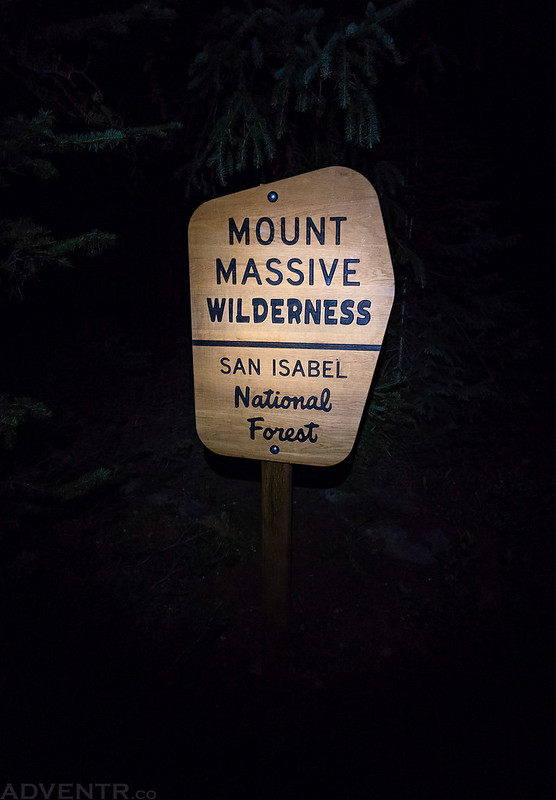 Entering Mount Massive Wilderness