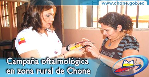 Campaña oftalmológica en zona rural de Chone