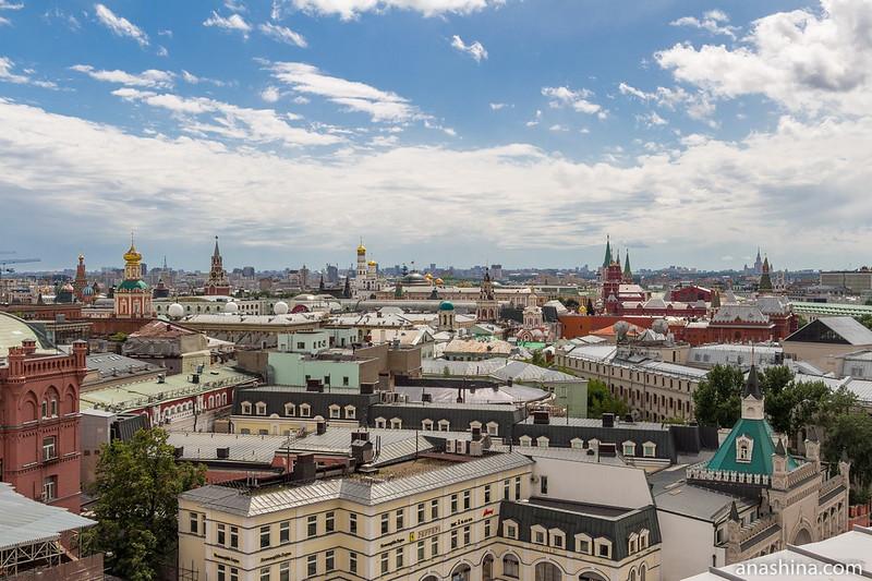Панорама Москвы со смотровой площадки Центрального детского магазина