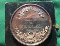 Agricultural Society medal reverse