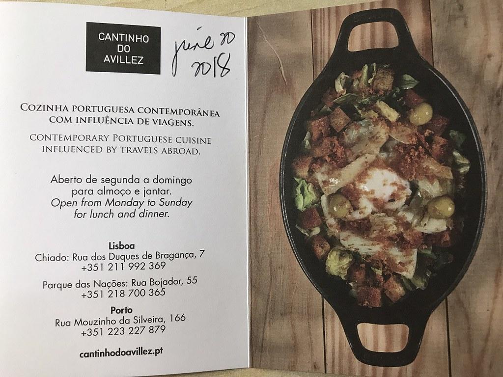 Cantinho do Avillez,  Portuguese cuisine