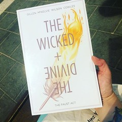 I can pretty much blame @executivegoth for this purchase #notsorry #yesplease #thewickedandthedivine #thefaustact #kierongillen #jamiemckelvie #matthewwilson #bookstagram #graphicnovel #comic