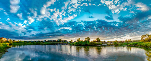 hdr pano panorama nikon nikond810 sunrise coloradosunrise clouds pond peyton