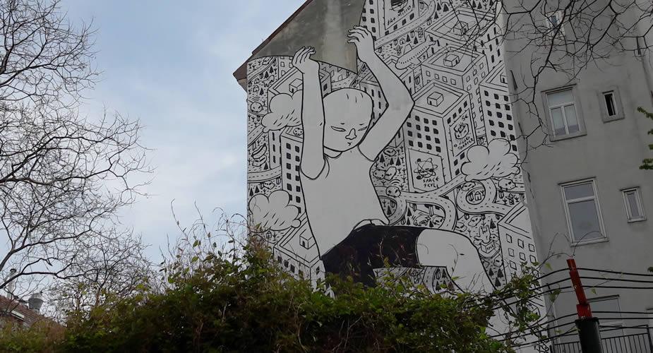 Fietsen in Wenen, street art in Wenen | Mooistestedentrips.nl