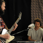 Tue, 19/06/2018 - 2:11pm - Dawes (Taylor Goldsmith, Griffin Goldsmith, Wylie Gelber, Lee Pardini, Trevor Menear) performs in WFUV's Studio A, 6/19/18. Photo by Neil Swanson