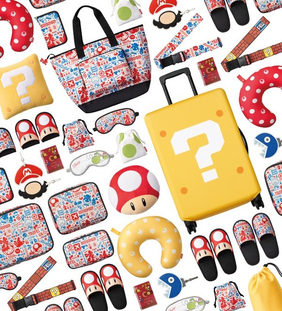帶著可愛又時尚的瑪利歐週邊一起旅行吧!任天堂《超級瑪利歐》旅遊週邊商品(スーパーマリオ トラベルグッズ)今夏發售