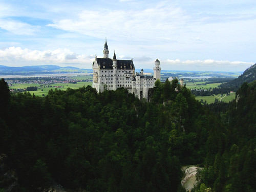 view on Neuschwanstein Castle from Marienbrücke