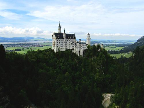view on Neuschwanstein Castle from Marienbrücke