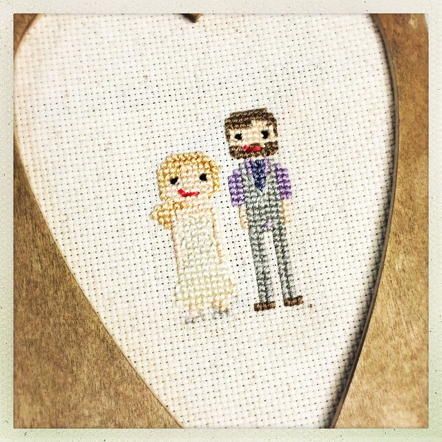 Cross Stitch Wedding Portrait