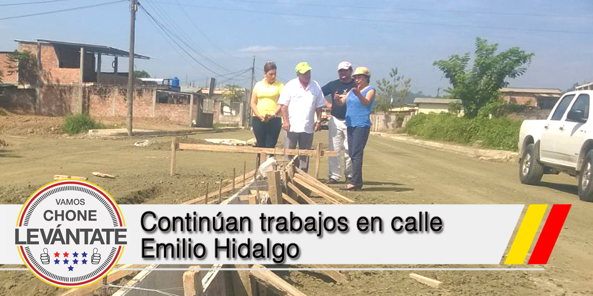 Continúan trabajos en calle Emilio Hidalgo