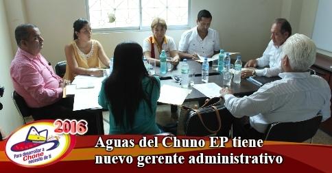 Aguas del Chuno EP tiene nuevo gerente administrativo