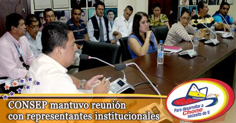 CONSEP mantuvo reunión con representantes institucionales
