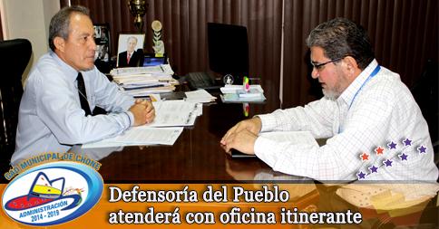 Defensoría del Pueblo atenderá con oficina itinerante