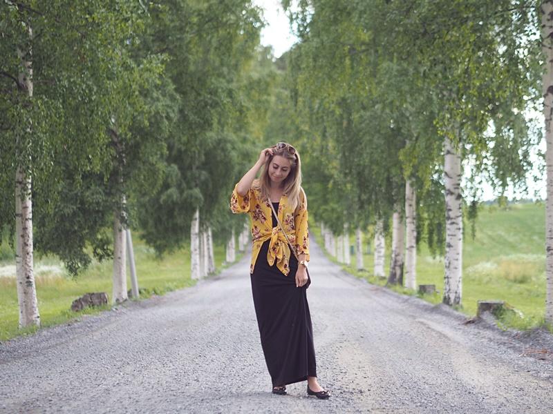 flower kimono h&m