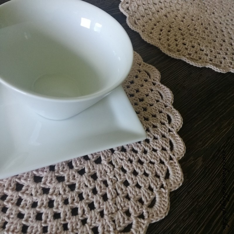 crochet, placemat, catania , 1263color, easy, frompinterest (3)