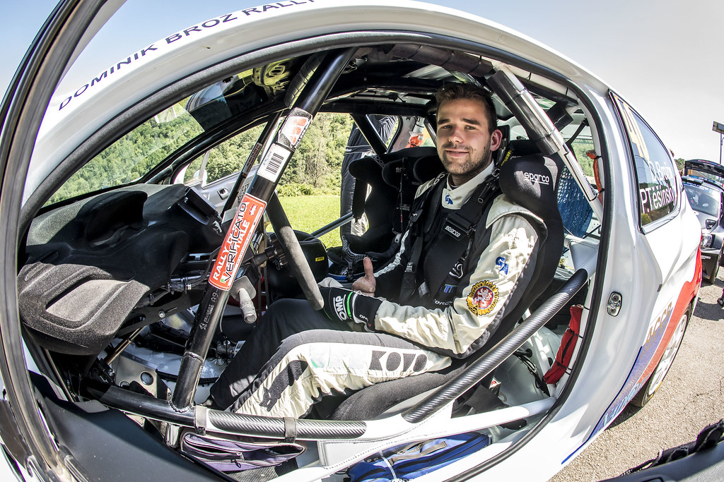 BROZ Dominik (cze), PESINSKY Petr cze) Peugeot 208, portrait during the 2018 European Rally Championship ERC Rally di Roma Capitale,  from july 20 to 22 , at Fiuggi, Italia - Photo Gregory Lenormand / DPPI