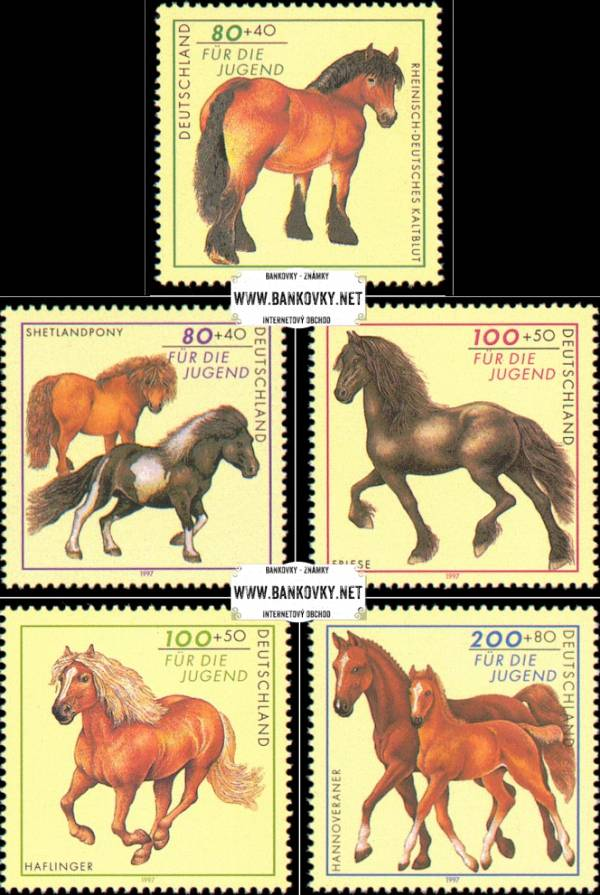 Známky Nemecko 1997 Kone, nerazítkovaná séria