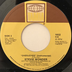 STEVIE WONDER:OVERJOYED(LABEL SIDE-B)