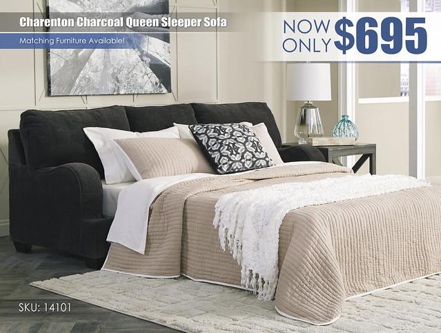 Charenton Charcoal Sleeper Sofa_14101-39