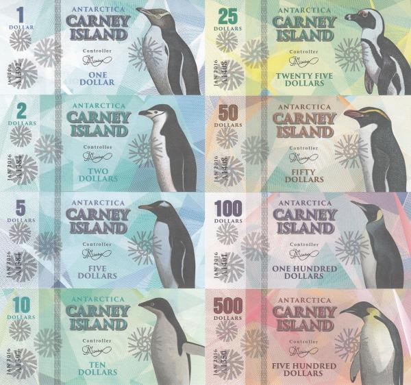 Ostrov Carney 1-500 dolárov 2016