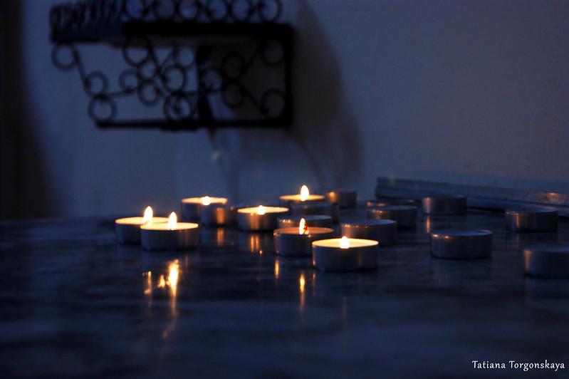 Свечи из церкви Св. Клары