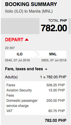 Iloilo to Manila AirAsia Promo July 7, 2018