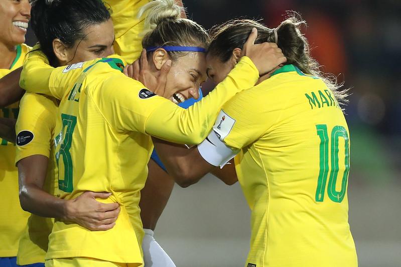 Brasil x Chile pela Copa América Feminina