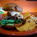 1/3lbs Short rib/Chuck/Brisket Burger w/ deep fried avocado,mango cream sauce, gouda cheese, habanero jelly - Black Bear Burritos