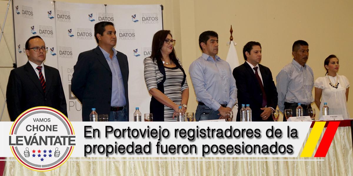 En Portoviejo registradores de la propiedad fueron posesionados